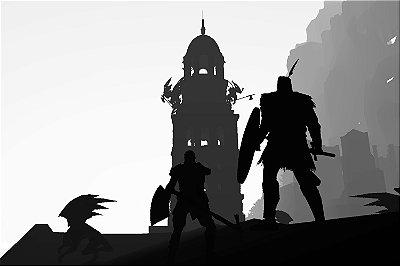 Quadro Gamer Dark Souls - Minimalista 2