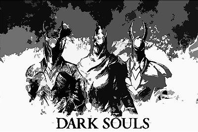 Quadro Gamer Dark Souls - Minimalista 3