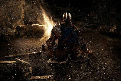 Quadro Gamer Dark Souls - Fogueira 2