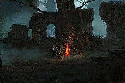 Quadro Gamer Dark Souls - Fogueira 3