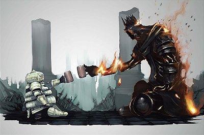 Quadro Gamer Dark Souls - Camaradas