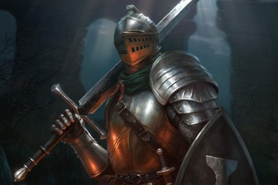 Quadro Gamer Dark Souls - Guerreiro 5