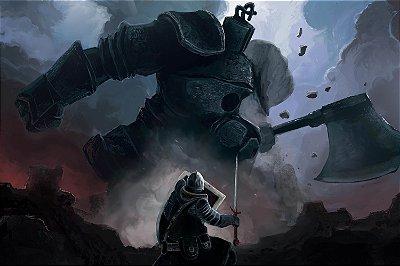 Quadro Gamer Dark Souls - Confronto