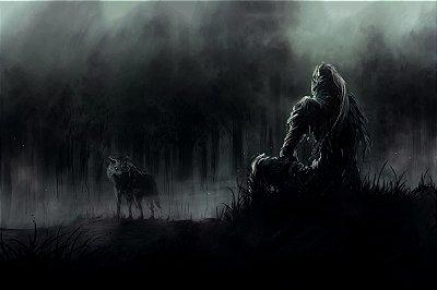 Quadro Gamer Dark Souls - Sombras