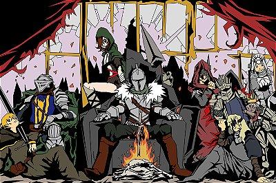 Quadro Gamer Dark Souls - Desenho
