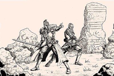 Quadro Gamer Dark Souls - Desenho 2