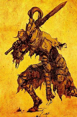 Quadro Gamer Dark Souls - Boss Desenho
