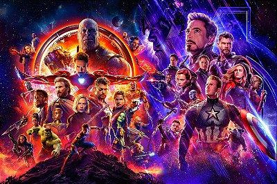 Quadro Vingadores - Guerra Infinita e Ultimato