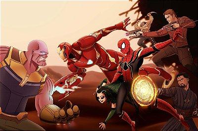Quadro Vingadores Ultimato - Desenho