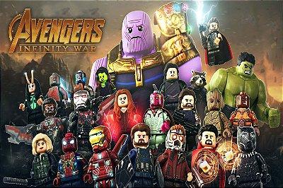 Quadro Vingadores Guerra Infinita - Lego