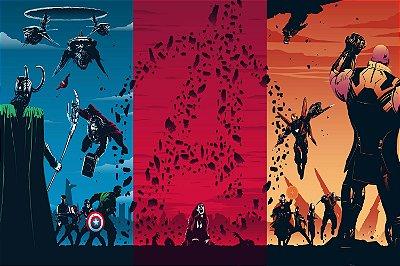 Quadro Vingadores - Momentos Artístico