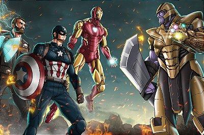 Quadro Vingadores Guerra Infinita - Desenho