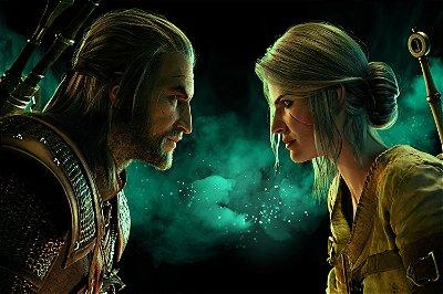 Quadro Gamer The Witcher - Geralt e Ciri