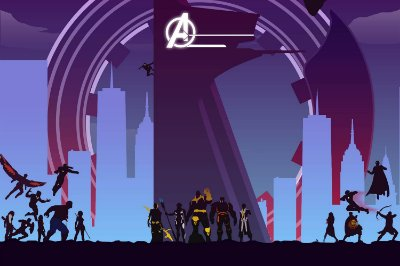 Quadro Vingadores - Minimalista 2