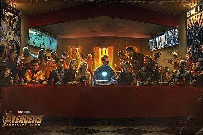 Quadro Vingadores - Ceia Artística