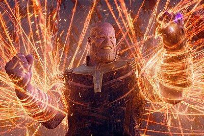 Quadro Vingadores - Thanos Preso Doutor Estranho