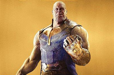 Quadro Vingadores - Thanos Ouro