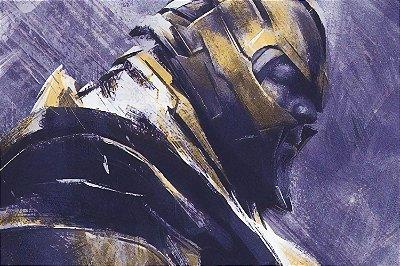 Quadro Vingadores - Thanos Armadura Pintura
