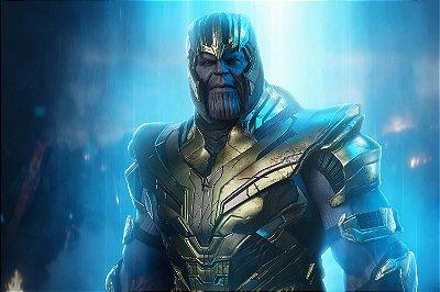 Quadro Vingadores - Thanos Armadura 3