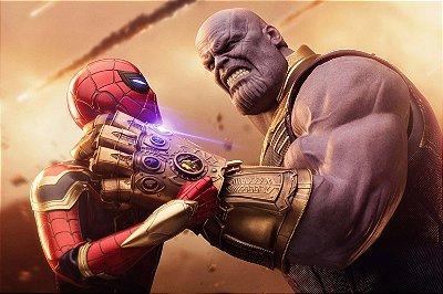 Quadro Vingadores - Thanos vs Homem Aranha