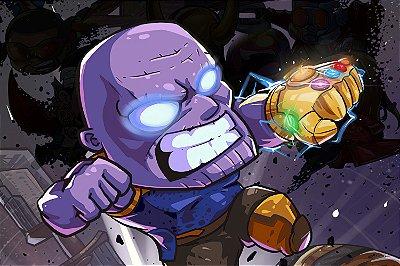 Quadro Vingadores - Thanos Desenho