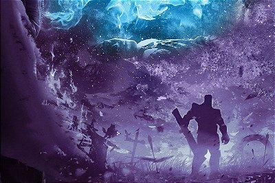 Quadro Vingadores - Thanos Minimalista