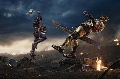 Quadro Capitão América - Thanos 2