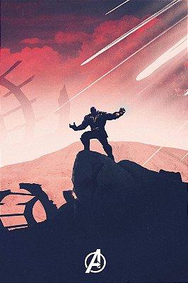 Quadro Vingadores - Thanos Minimalista 3