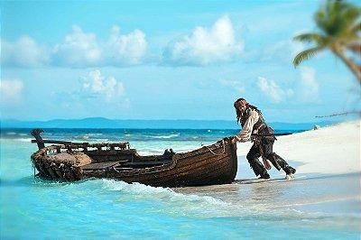 Quadro Piratas do Caribe - Jack Sparrow Ilha