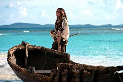 Quadro Piratas do Caribe - Jack Sparrow Ilha 2