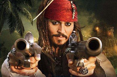 Quadro Piratas do Caribe - Jack Sparrow