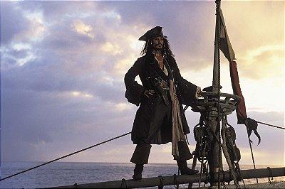 Quadro Piratas do Caribe - Jack Sparrow Mastro