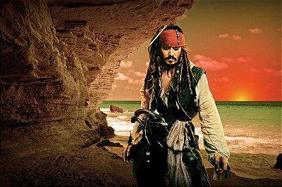 Quadro Piratas do Caribe - Jack Sparrow Horizonte