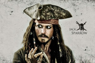 Quadro Piratas do Caribe - Jack Sparrow 4