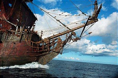 Quadro Piratas do Caribe - Proa do Pérola Negra