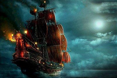 Quadro Piratas do Caribe - Navio