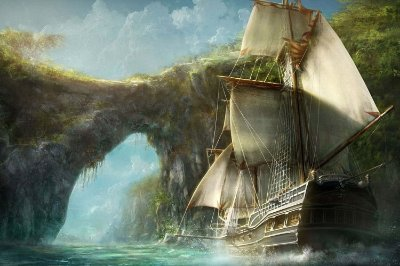 Quadro Piratas do Caribe - Navio 2