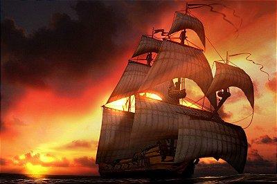 Quadro Piratas do Caribe - Navio 3