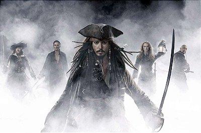 Quadro Piratas do Caribe - Jack Sparrow Névoa
