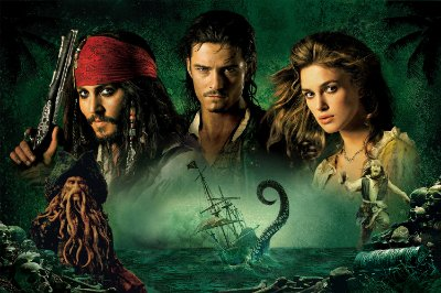 Quadro Piratas do Caribe - Personagens