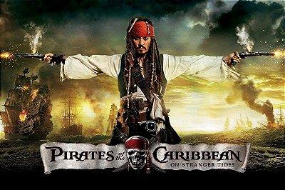 Quadro Piratas do Caribe - Navegando em Águas Misteriosas