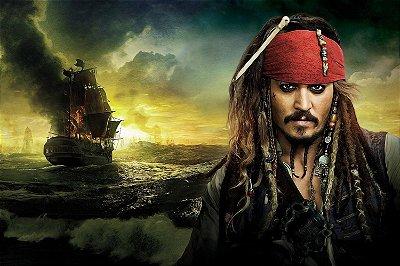 Quadro Piratas do Caribe - Jack Sparrow 5