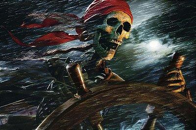 Quadro Piratas do Caribe - Jack Sparrow Undead