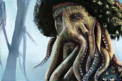 Quadro Piratas do Caribe - Davy Jones