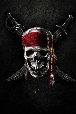 Quadro Piratas do Caribe - Caveira 2