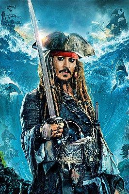 Quadro Piratas do Caribe - Jack Sparrow Mar