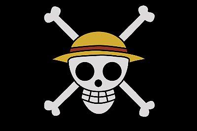 Quadro One Piece - Bandeira Piratas do Chapéus de Palha