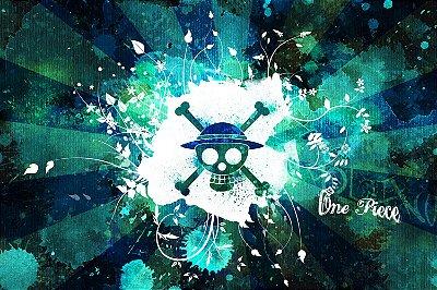 Quadro One Piece - Símbolo Piratas do Chapéus de Palha