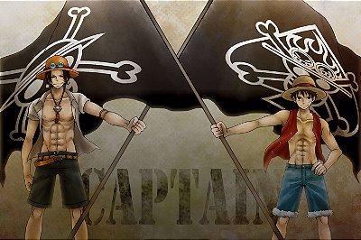 Quadro One Piece - Luffy e Ace
