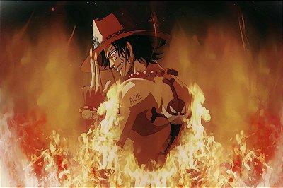 Quadro One Piece - Ace Punhos de Fogo 3